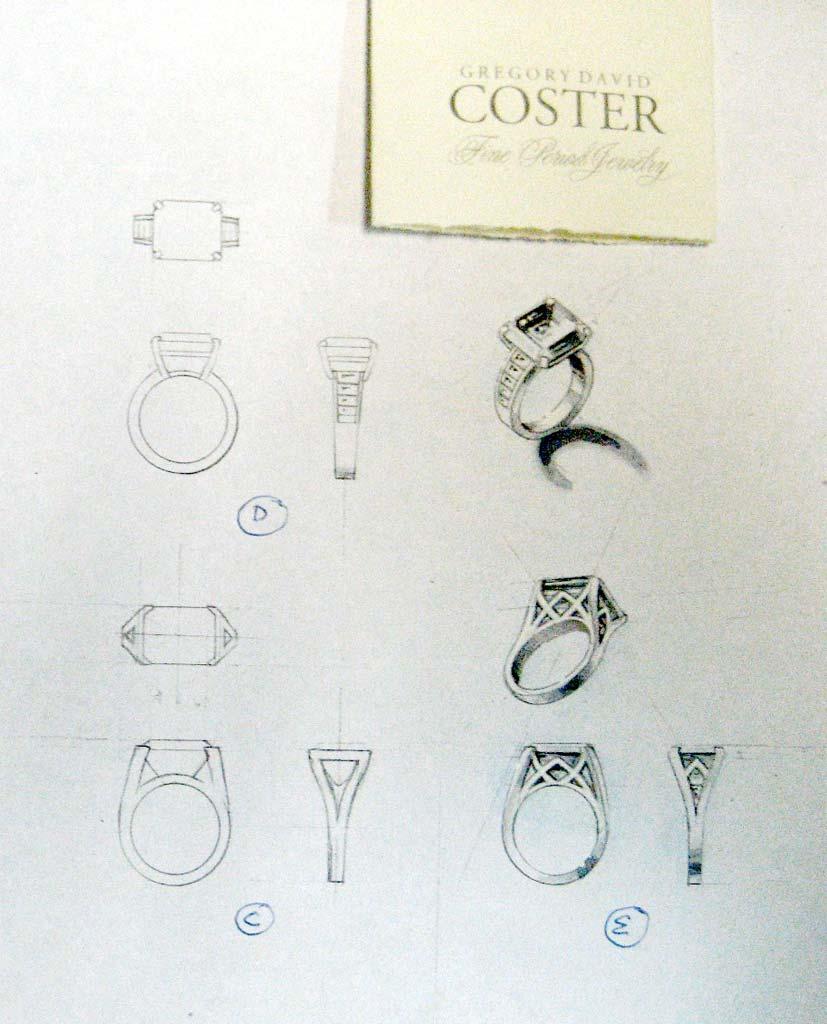 Diamond design drawing